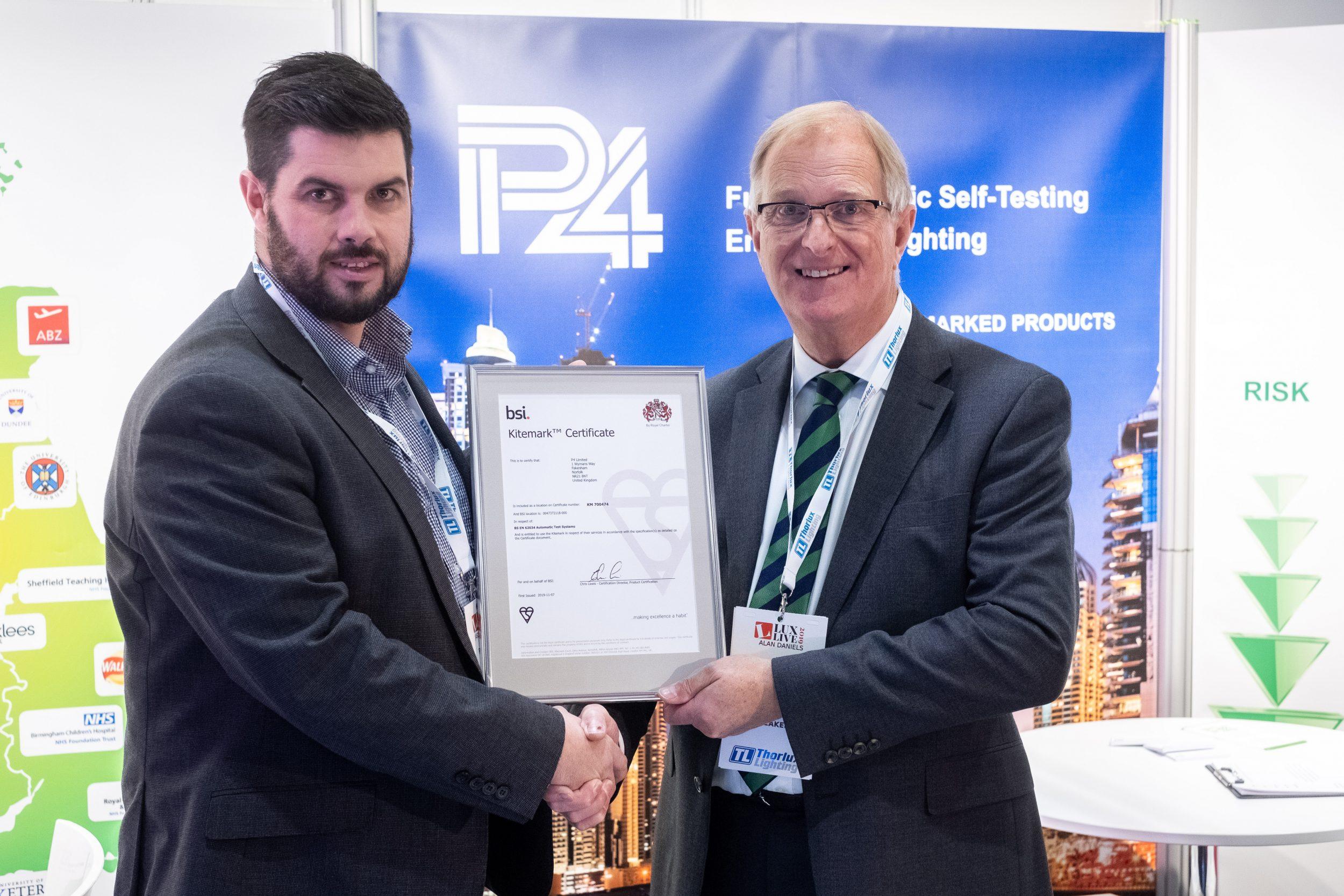 P4 Achieves BSI Kitemark Certification For Emergency Escape Lighting