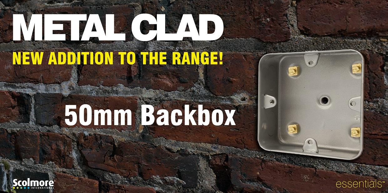 Scolmore 50mm Back Box For Metal Clad Range
