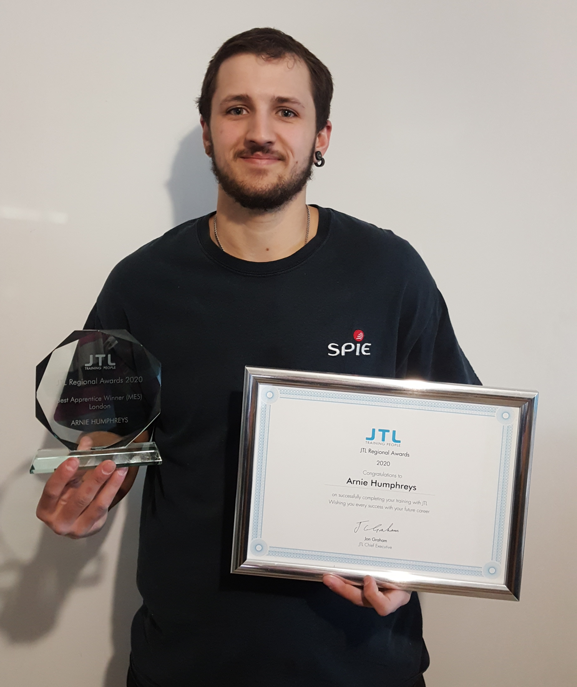 Arnie Humphreys Named JTL's MES Apprentice Of the Year In London